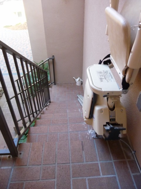 MediTek stairlift outdoor model folded